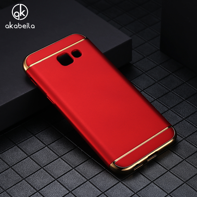 AKABEILA Plating Plastic Case Cover For Samsung Galaxy J5 2017 J520 J520F J520FM SM-J520F SM-J520FM/DS US Version Covers Back