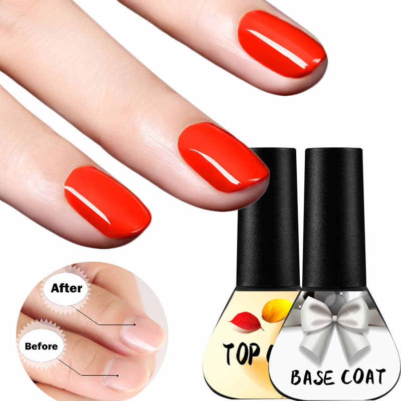 Beateal 2 pçs/lote Unha Polonês Top Coat Base de Gel Unha Conjunto Verniz Gel Esmalte Permanente Base de Top Coat Cartilha Gel Verniz Para Unhas