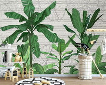 Beibehang Custom wallpaper mural high quality tropical banana leaf brick wall living room cafe background wall 3d wallpaper custom mural wallpaper southeast asian tropical green banana leaf wallpaper bedroom living room background wall decor wallpaper