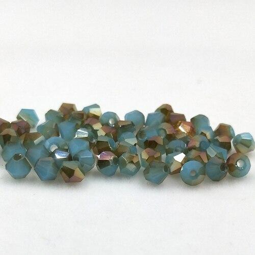 Новинка 5301 4 мм 1000 шт стеклянные кристаллы бусины биконус граненый свободный разделитель бисер бусины Fantas AB DIY Изготовление ювелирных изделий U выбор цвета - Цвет: 226