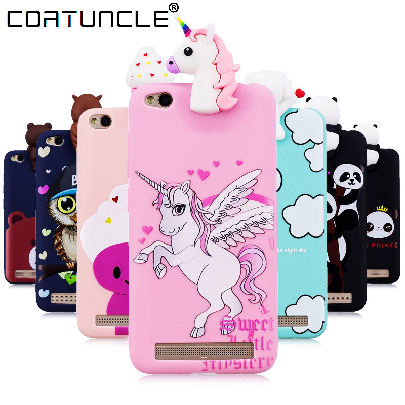 Galleria fotografica COATUNCLE Phone Cases sFor Fundas Xiaomi Redmi 5A Case Soft TPU Candy Color panda Cartoon Back Cover for Coque Redmi 5 A Case