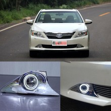 Superb 55W Halogen Bulbs COB Fog Lights  Source Angel Eye Bumper Cover For Toyota Camry 2012+ eemrke cob angel eyes drl for toyota corolla fog lights h11 55w halogen bulbs led daytime running lights kits