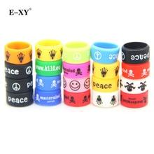 E-XY 20pcs/lot E cigarette accessories silicone rubber band vape ring decorative and protection vape mod Non Slip rubber band