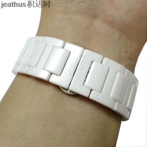 Image 5 - Jeathus cinturino cinturino bracciale in ceramica per le smart watch samsung gear S2 classico S3 frontier moto360 gen2 watch band 20 22 millimetri uomo