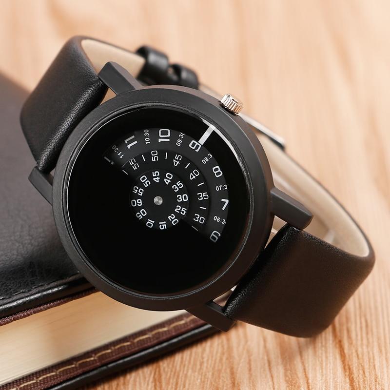 Mode mænd armbåndsur rustfrit stål quartz ur sort trendy afslappet - Mænds ure - Foto 5