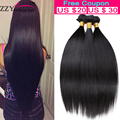 7A Brazilian Virgin Hair 3 Bundles Straight Human Hair Weave Brazilian Virgin Hair Straight Unprocessed Brazilian Straight Hair