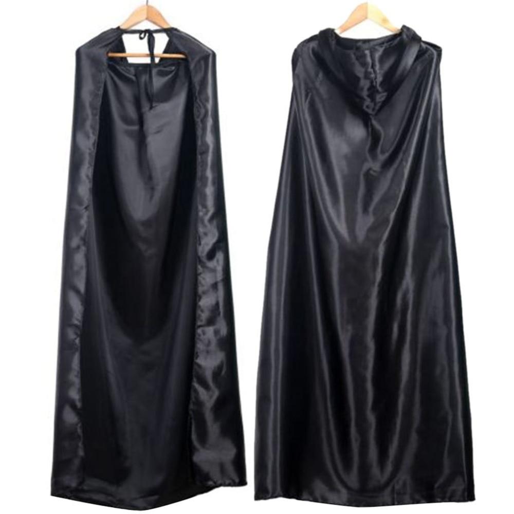 Black Halloween Costume Theater Prop Death Hoody Cloak Devil Long Tippet Cape Cosplay 2018 New