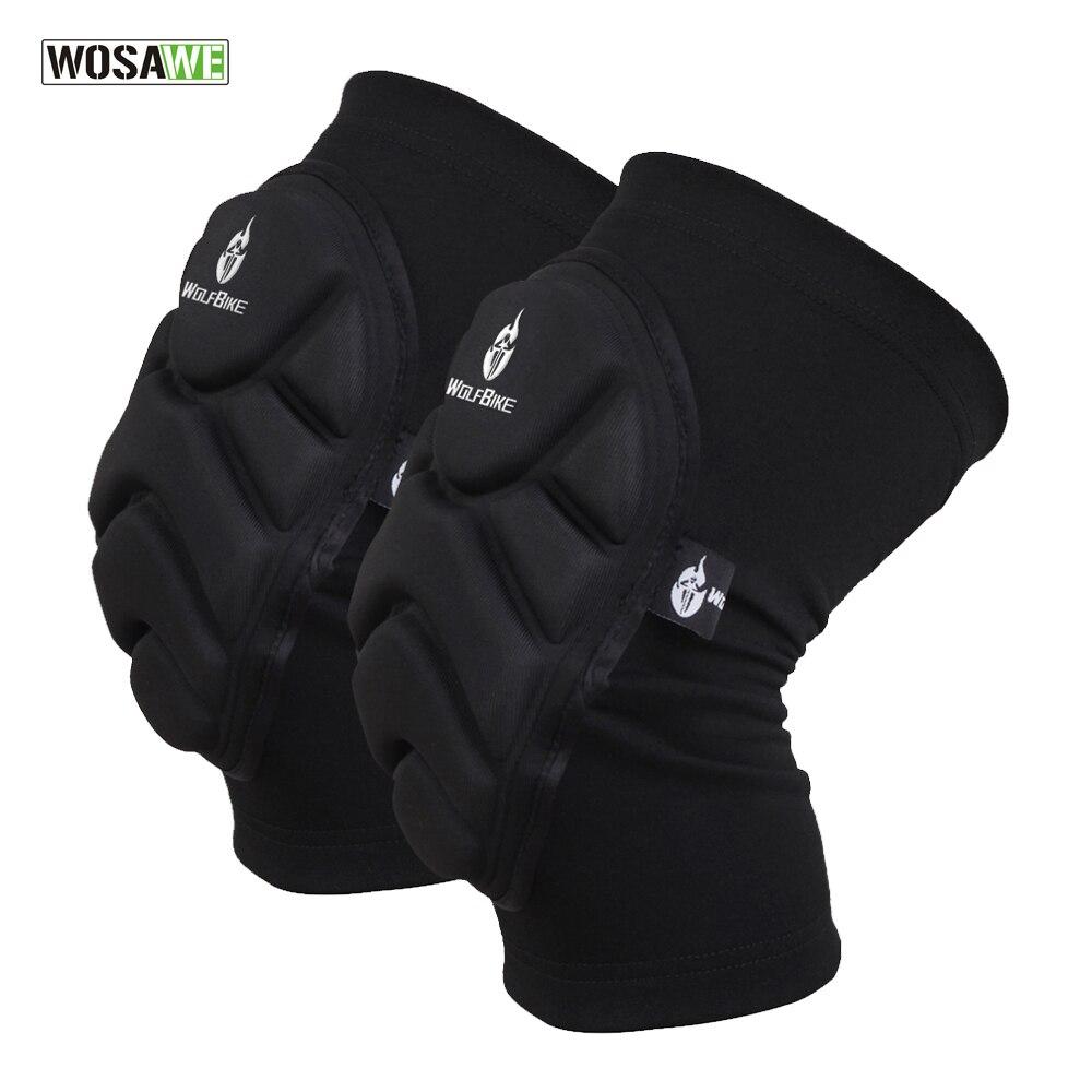 WOSAWE Zwei Stück Kneepad Skifahren Torwart Fußball Fußball Volleyball Extreme Sport knie pads Schützen Radfahren Knie Protector