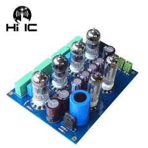 Image 2 - Oliwkowe wzmacniacze lampowe HiFi karta audio Amplificador przedwzmacniacz mikser audio 6Z4*2 + 12AU7*2 + 12AX7*2 przedwzmacniacz zaworu bufor żółciowy
