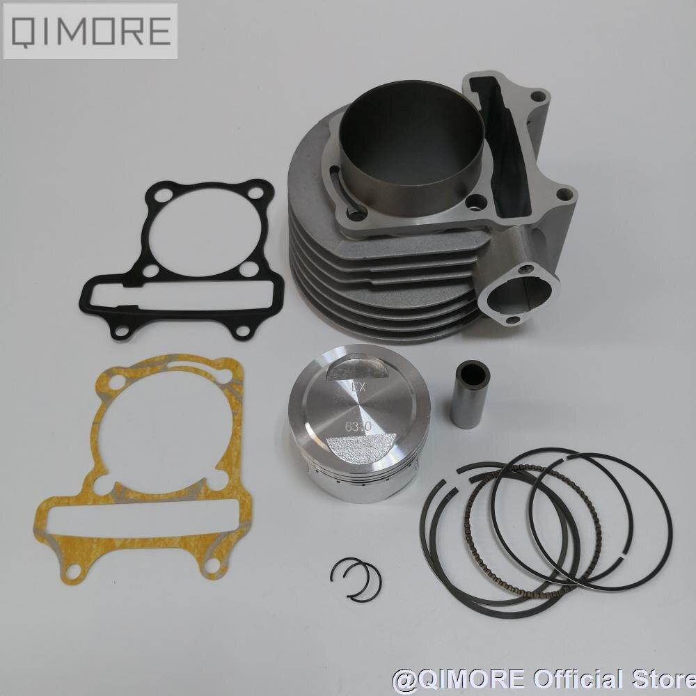 GY6-200 63mm 2 v grande furo cilindro pistão conjunto para scooter ciclomotor atv quad 152qmi 157qmj 1p57qmj gy6 125 gy6 150