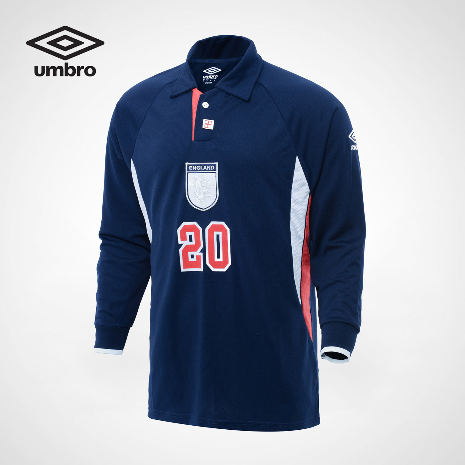 Umbro New Erwin England Classic Retro Men Sports Long Sleeved Polo Sweater POLO Shirt Me ...
