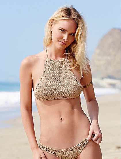 Sexy 1pcs Bikini Set Crochet Knit Topbottoms Women Halter Bra