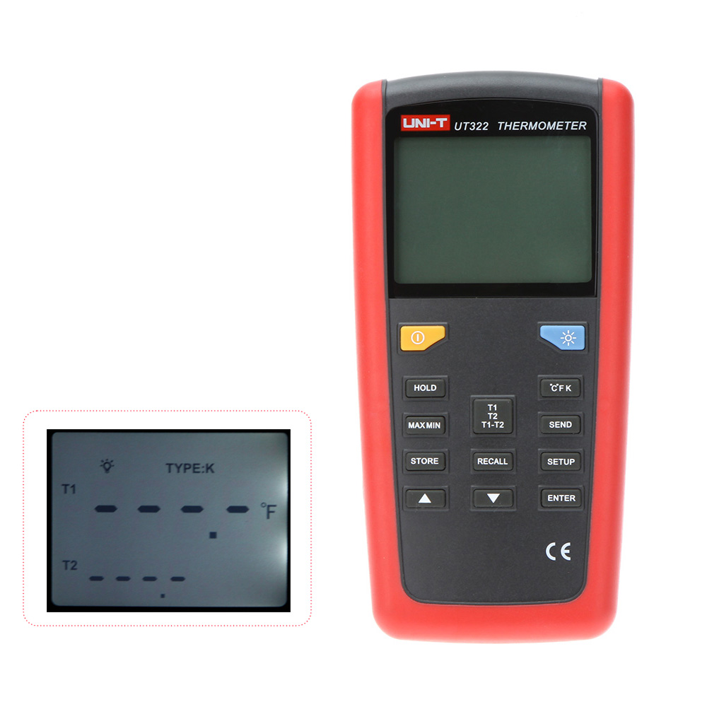 UNI-T UT322 Portable Digital USB Thermometer With Date Hold/Logging and LCD Backlight  цены