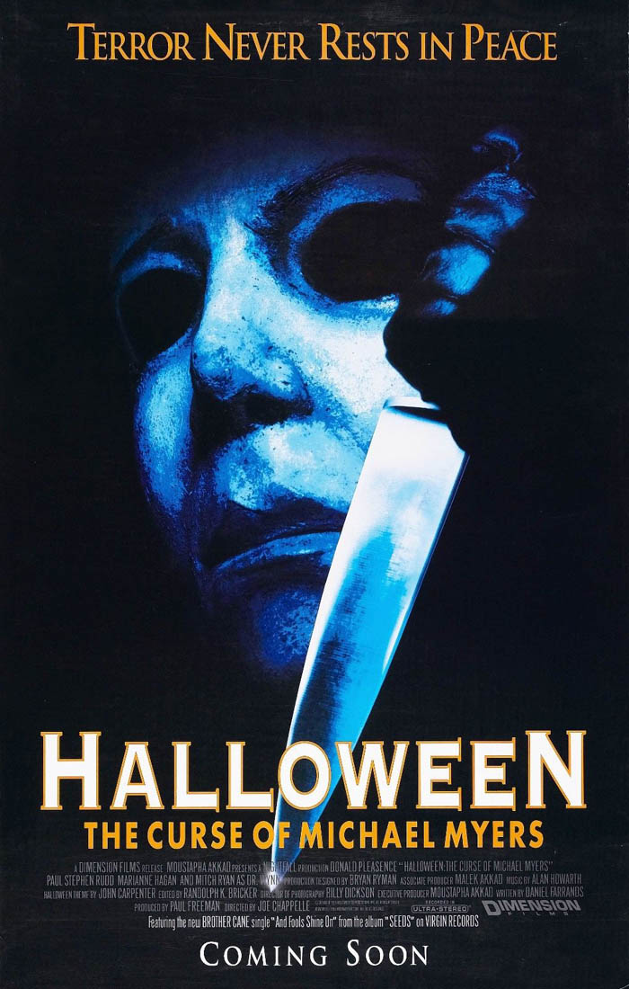 halloween the curse of michael myers movie horror silk wall poster silk poster art bedroom decoration 1749 - Michael Myers Halloween Decorations