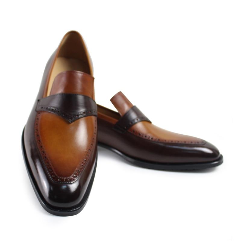 슈퍼 스타 vikeduo 수제 남성 로퍼 신발 맞춤 100% 정품 가죽 패션 캐주얼 럭셔리 웨딩 파티 원래 디자인-에서남성용 캐주얼 신발부터 신발 의  그룹 3