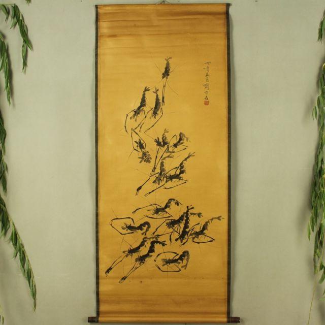Collection Antique de chine le diagramme de crevettes Qi Baishi