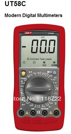 ФОТО 100% New UNIT-T UT58C Handheld Modern Digital Multimeters Large LCD Display UT-58C
