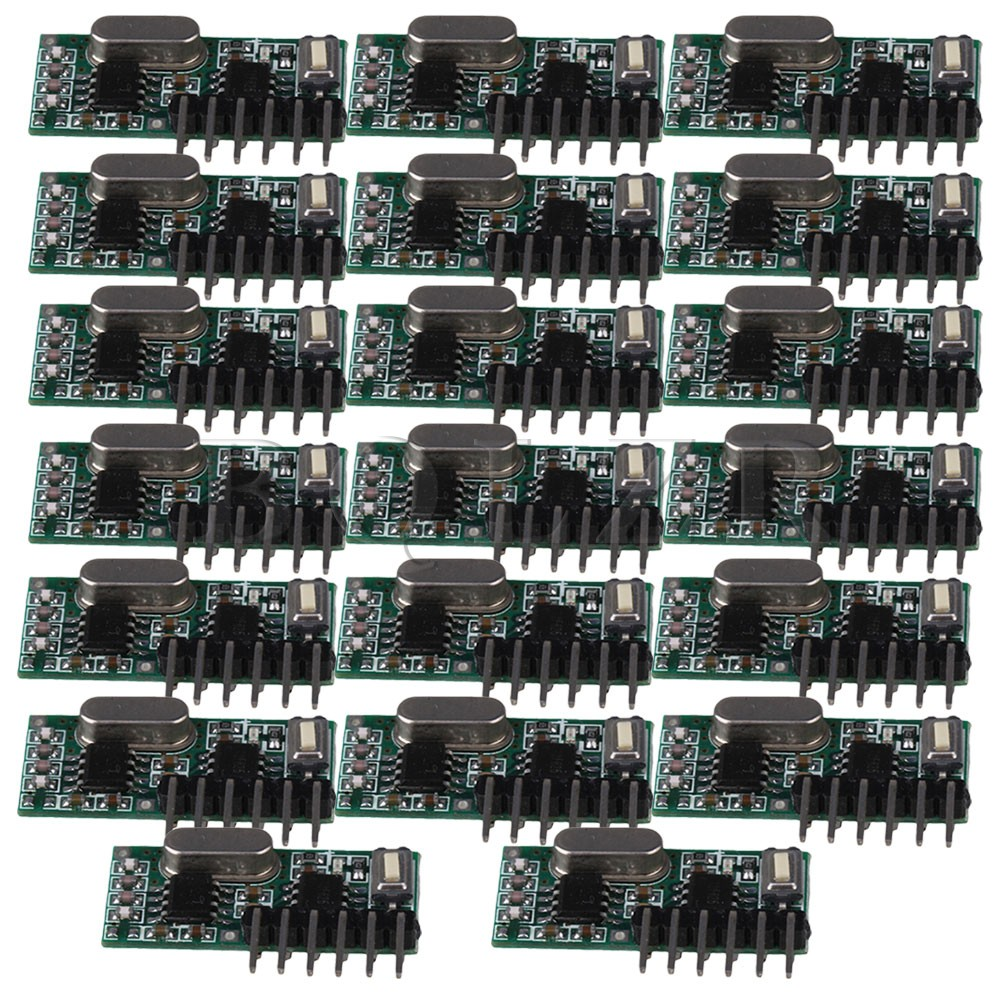 ФОТО BQLZR 20pcs DC5V 4 Channel Universal Wireless Receiver RX480E Module 433MHz