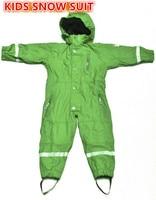 2017 New Style Boys Raincoat Outdoor Jumpsuits Ski Wear Waterproof Kids Clothing Rainsuit Winter Rompers Girls