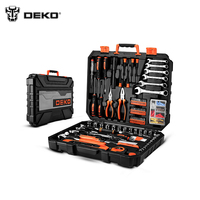 Tools Set DEKOPRO DKMT208 (208 pcs) Wrench Hand Set of Tool Box Toolset