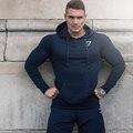 Gymshark Осенью новый Crossfit Мужские пуловеры Мода досуг фитнес Бодибилдинг спортивная пальто Толстовки куртки Кофты