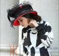 Envío de La Manera Nuevas Mujeres Sombreros de La Iglesia de Derby Sombreros Sombreros de Satén Cinta de Raso Arco Pedrería Decorativos Dos Colores Disponibles