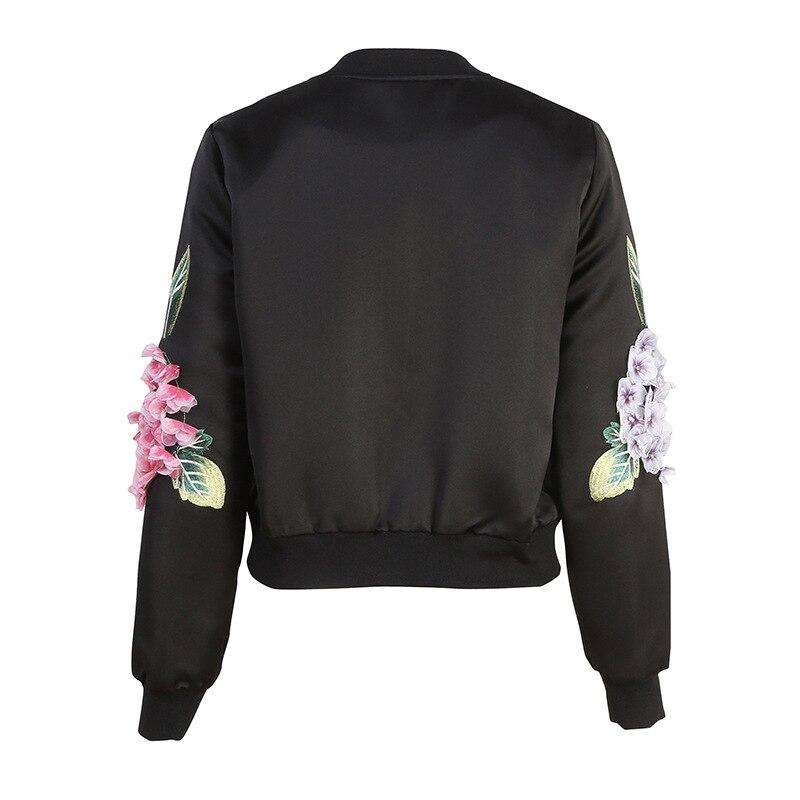 Court Applique Manteau Automne Manteaux D592 Haute Vestes Broderie Femmes Qualité 2018 rose Noir Fleur Élégante RftwqZwx