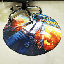 Round Carpet PUBG Printed Soft Carpets Anti-slip Rugs Playerunknown's Battlegrounds Computer Chair Floor Mat for Home Kids Room(China)