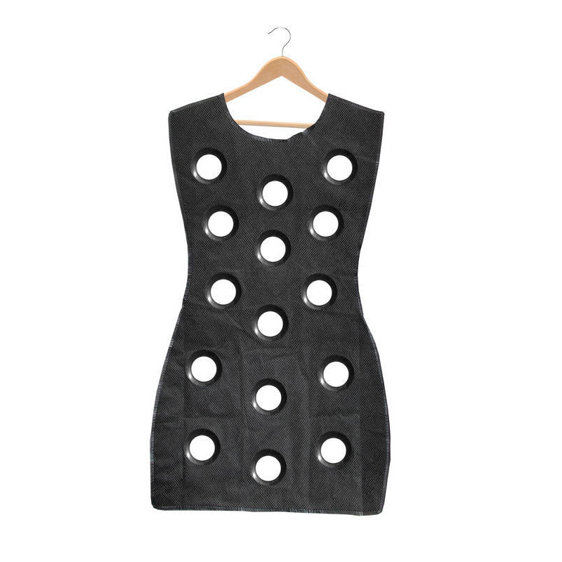 Woman Blouse Little Black Dress Hanging Scarf Organizer