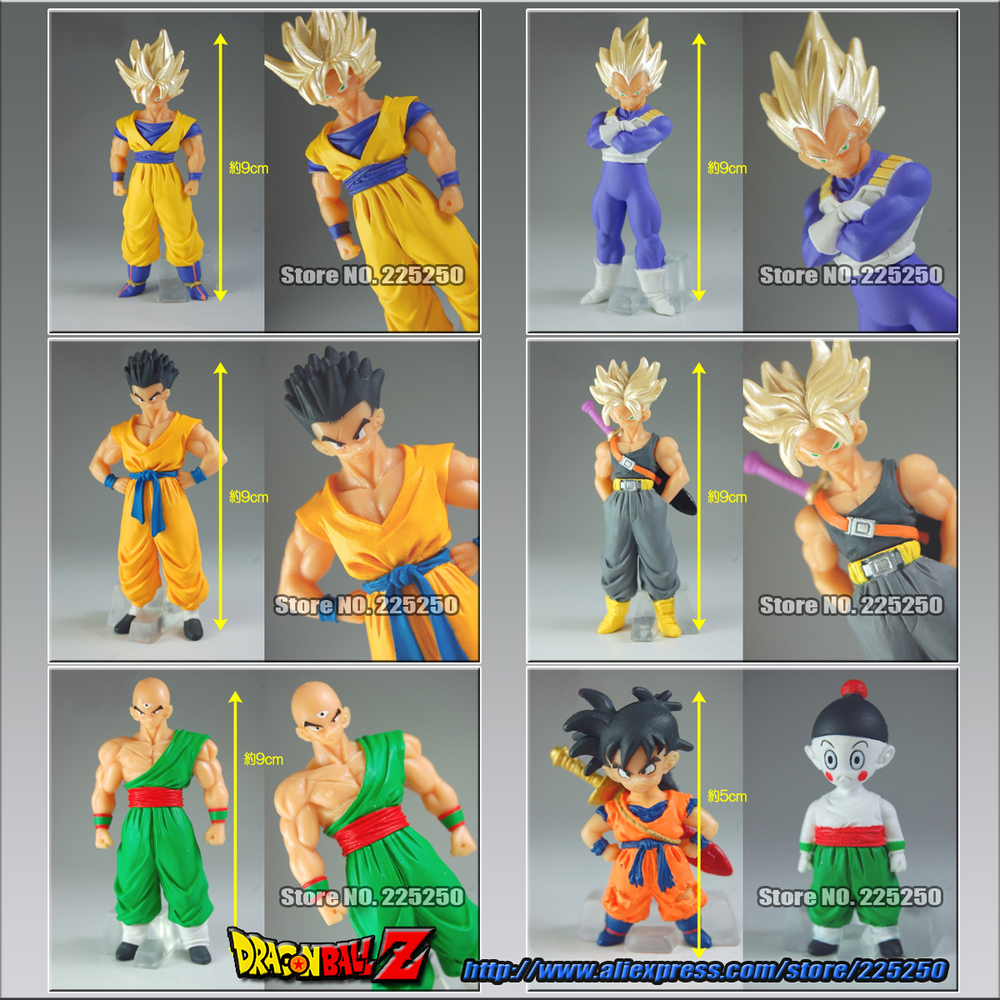 Dragon Ball Z Original BANDAI Gashapon PVC Toy Figure HG 20B - set of 6pcs Goku Vegeta Trunks Yamcha Tenshihan Gohan ChiaotzuDragon Ball Z Original BANDAI Gashapon PVC Toy Figure HG 20B - set of 6pcs Goku Vegeta Trunks Yamcha Tenshihan Gohan Chiaotzu