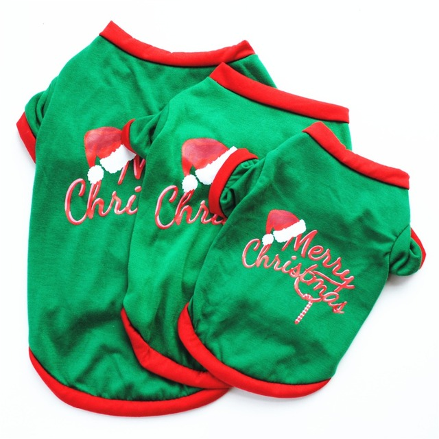 XS/S/M/L Pet Dog Clothes Christmas Costume Cute Cartoon Clothes For Small Dog Cloth Costume Dress Xmas apparel for Kitty Dogs 1