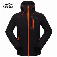Waterproof Hooded Softshell Jacket Men Mammoth Hiking Clothing Thermal Tech Fleece Ski Fishing Climbing Clothes