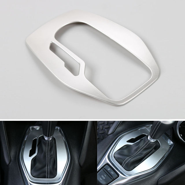 BBQ@FUKA Matte ABS Car Interior Parts Gears Shift Panel Trim Covers  Fit For Chevrolet Camaro 2017