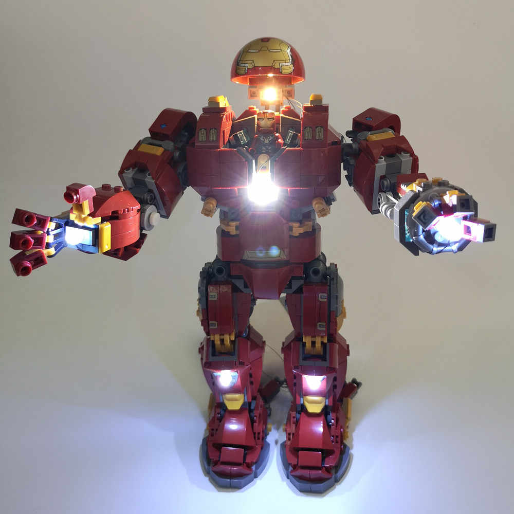 LED Light Kit For lego 76105 and 07101 the Iron Man Hulkbuster Set ( not include the iron man blocks set)