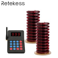 Restaurant Coaster Pagers Wireless Waiter Calling Paging System 433.92MHz 999 Channel Buzzer Beepers Customer Service Equipment