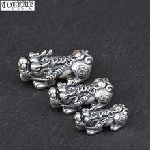 3d 100% 999 серебряные бусины pixiu настоящее чистое серебро