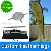 Free Shipping Single Sided Cross Base Advertising Promotional Sail Flags Custom Banners