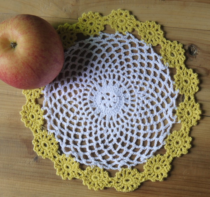 Lace Handmade Crochet Pattern Doily Cup Mat Cotton Cup