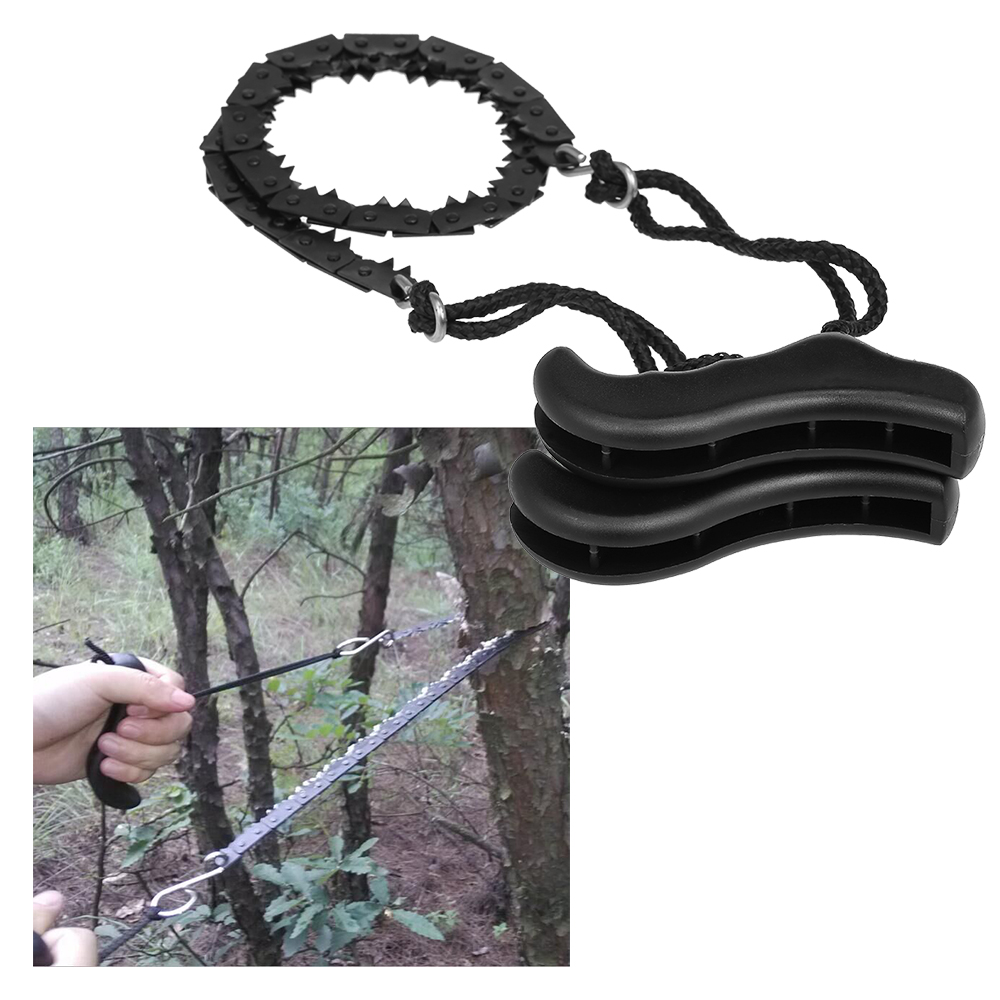 Folding Chain Saw Jagged Chainsaw Manual Steel Wire Saw Hand Camping Hiking Hunting Emergency Survival Tool Outdoor Tools-in Outdoor Tools from Sports & Entertainment