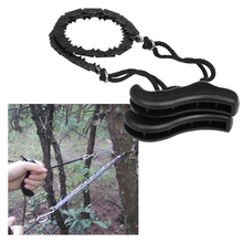 Folding Chain Saw Jagged Chainsaw Manual Steel Wire Saw Hand Camping Hiking Hunting Emergency Survival Tool Outdoor Tools apg 65cm outdoor survival pocket chainsaw and camping gardening hand chain saw