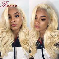 Волнистые тела Full Lace натуральные волосы парик 613 русый 180% плотность бразильский Волосы remy парик предварительно сорвал с для волос 613 кружева