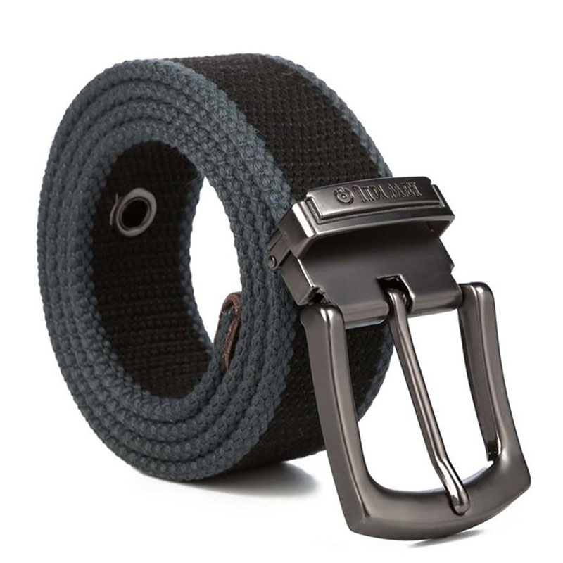 HALOCOWCOW Military Tactical Belt Men Canvas Belts for Jeans Male Casual Metal Pin