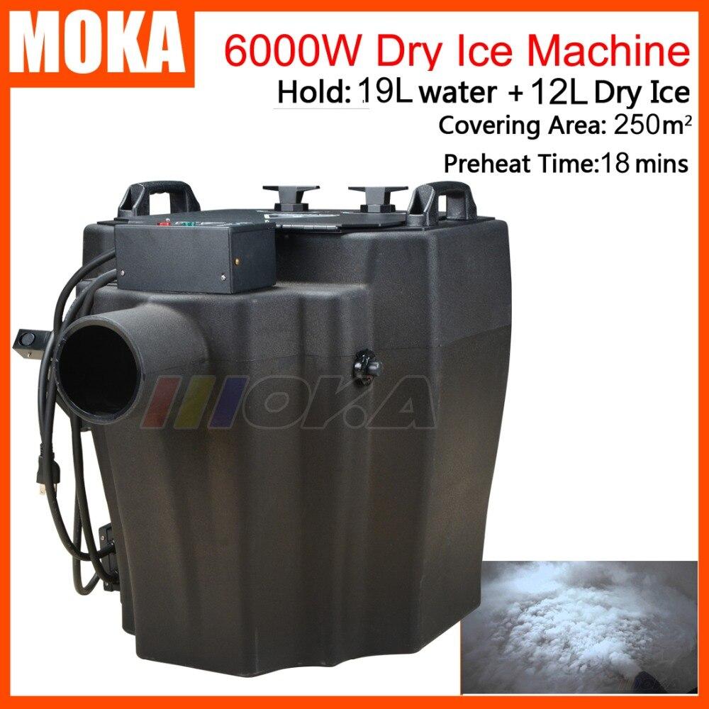 Super power Low Lying Fog/Smoke Machine 6000w dry ice machine smoke maker fogger machine hold 12L dry ice 2 heater