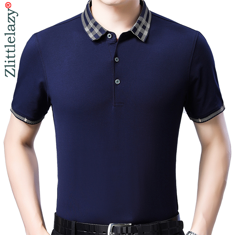 2019 brand casual summer solid short sleeve   polo   shirt men poloshirt jersey luxury mens   polos   tee shirts dress fashions 50564