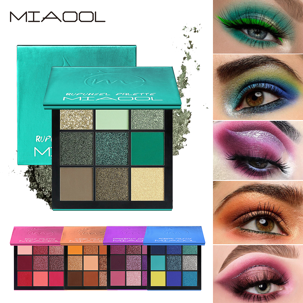 9Colors/Set Eyeshadows Pearlescent Matte Shimmer Waterproof Sweat-proof Mixed Eye Shadow Palette Beauty Makeup Cosmetic TSLM2