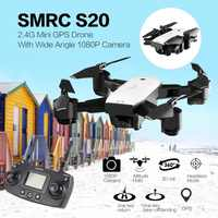 SMRC S20 6 Axles Gyro FPV 720/1080P/Wide Angle Camera Mini Drone Portable RC Quadrocopter Folding RC Helicopter Portable Model