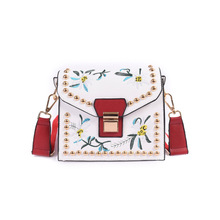 2017 Fashion Designer Bird Embroidered Retro Ladies Casual Tote Handbag Women's Crossbody Shoulder Bag Messenger Bags Flap Bag 3
