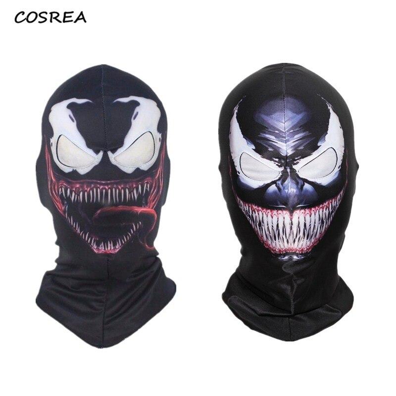 Mens Black Venom Costume 3d Printed Venom Bodysuit Hallowen Eddie