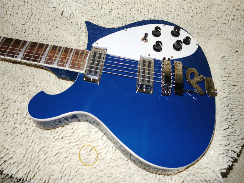 high quality newest blue 6 strings 325 330 electric guitar best musical instruments oem cheap in. Black Bedroom Furniture Sets. Home Design Ideas