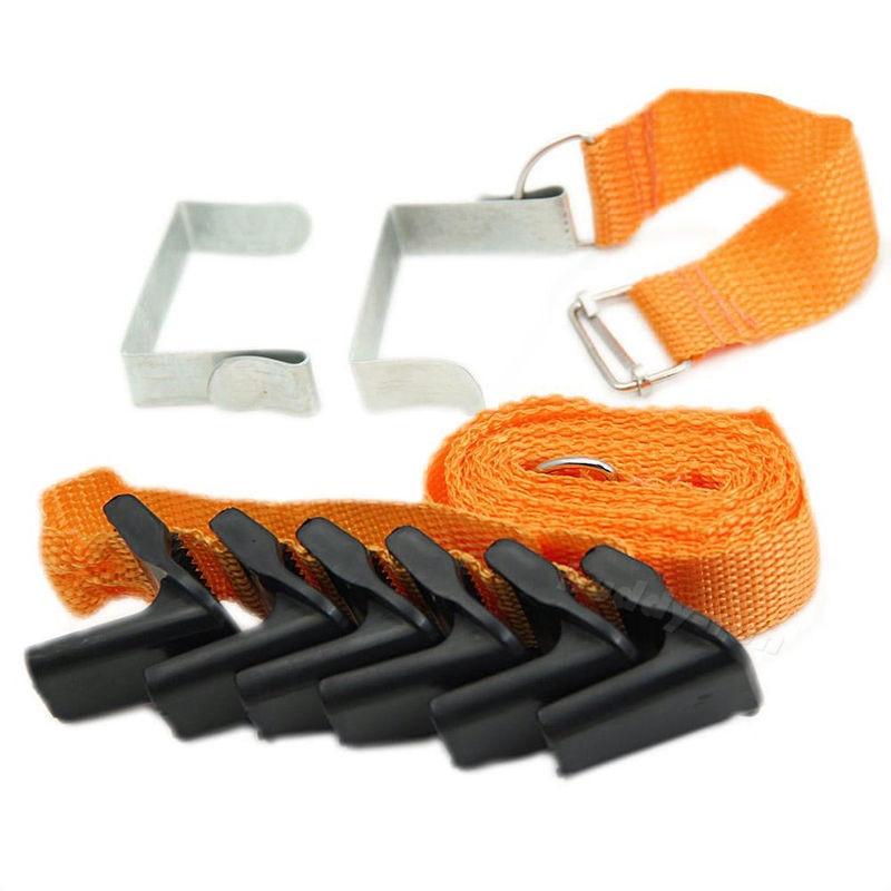 Cool Adjustable Overdoor Strap Hanger Hat Bag Clothes Coat Rack Organizer 7 Hook